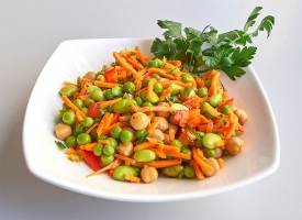 Garden Legume Salad, available in half size