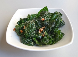 Marinated Kale with Pecans, available in half size