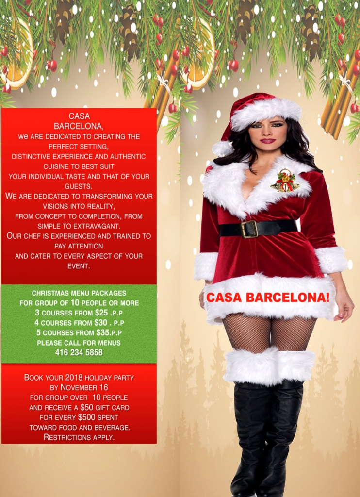 Book Your Holiday Party at Casa Barcelona!