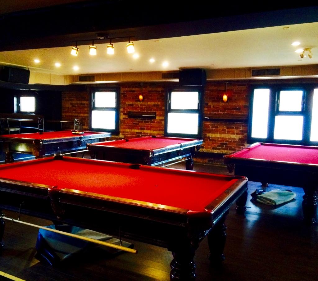 Delicious Dinner Drinks Billiards Table Tennis Upstairs
