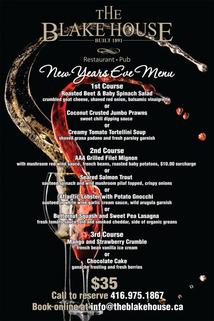Join us New Years Eve at The Blake House
