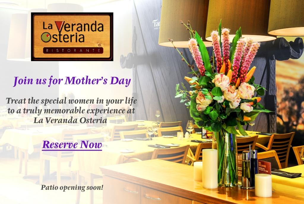Celebrate Mother's Day at La Veranda Osteria Ristorante!