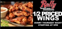 Half Price Wings on Thursdays!