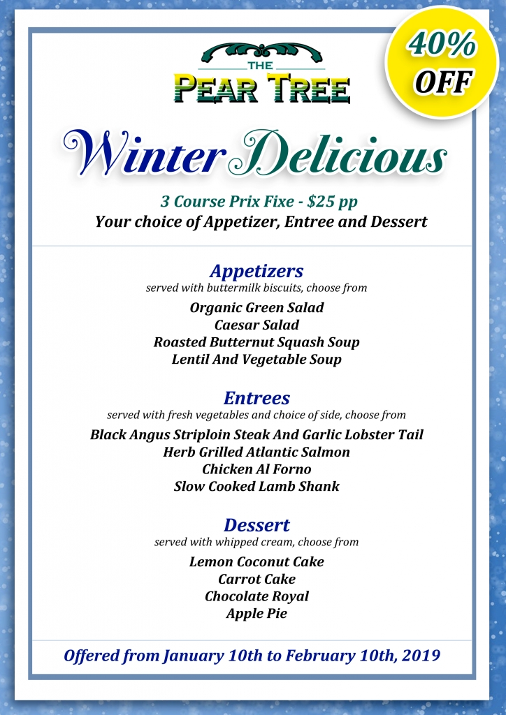 40% OFF Winter Delicious Menu on NOW