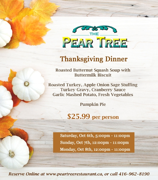 Thanksgiving at The Peartree