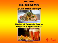 Dinner, Drinks & Appetizer Specials - Every Sunday!
