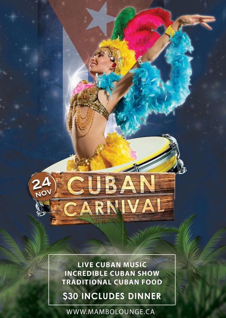 Cuban Carnival at Mambo Lounge!