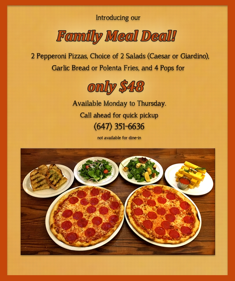 Introducing our Family Meal Deal - Pickup Special!