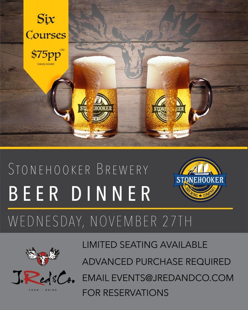 Stonehooker Beer Pairing dinner