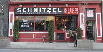 Alan Vernon gives Schnitzel Hub  a rating of B-