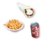 5. Pita au poulet + frites + liqueur