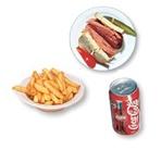 8. Sandwich à la viande fumée + frites + liqueur