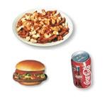 9. Hamburger + poutine (pet) + liqueur