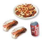 10. 2 hot-dogs + poutine + liqueur