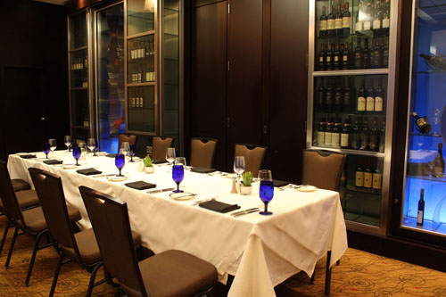 Group functions of azure restaurant bar for Best private dining rooms mississauga